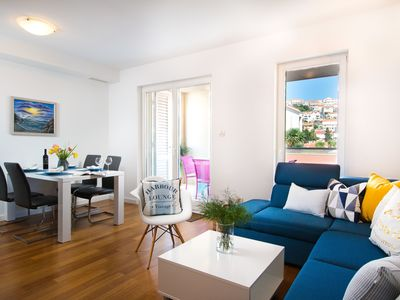Photo for Sunset beach apartment, beachfront, with private parking