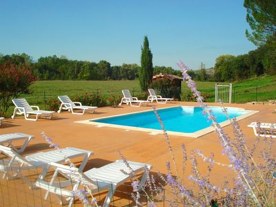 Photo for Charming cottage *** in South Ardèche, with swimming pool, near Vallon Pont d 'Arc,
