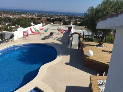 Photo for Charming house with pool sea and mountain views