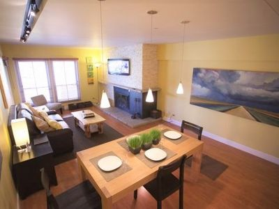 Photo for High End Contemporary Ski In/Ski Out - Village at Breck, Hot Tub, Pool, CDC certified cleaning products, perfect location!