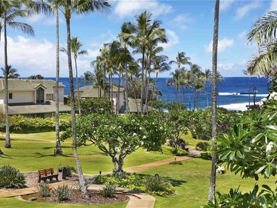 "Photo for Poipu Vacation Rental Lovely Blue Ocean View ""A/C Bedroom"" *Kahala 621*"