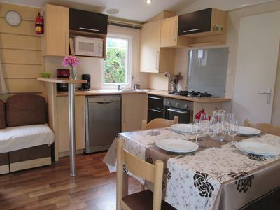"""Photo for Mobile Home 6/8 persons Air conditioning / Covered terrace """"Les Charmettes ****"""""""