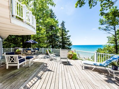 Photo for Spacious Home on the Shores of Lake Michigan with Private Beach!