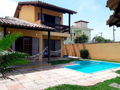 Photo for House with 3 suites, pool, barbecue on Mundaí Beach