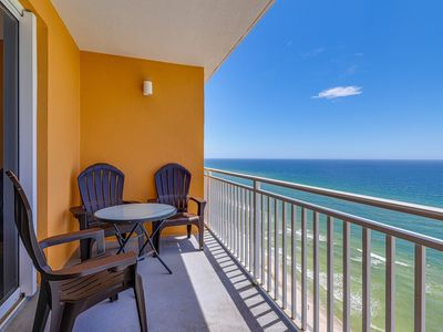 Photo for Gulf-front condo in the heart of PCB w/ pool, lazy river, hot tub & more!