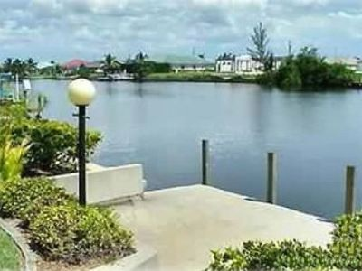 Our view of Eternity Canal; one of the largest canals in Cape Coral. Fish here.