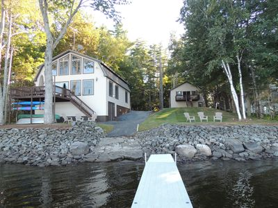 Photo for Peaceful Point, Contemporary Lake House With Guest House, Chemo Pond Near Acadia