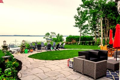 Patio & Fire Pit with lake charlevoix
