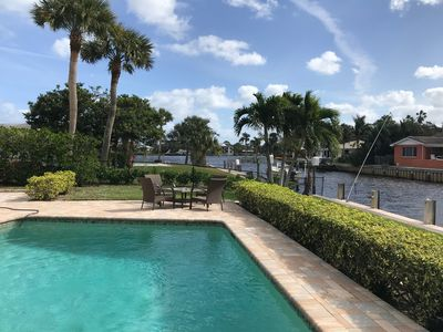 Photo for Newly Furnished Canal Front Home In Tequesta, FL with Dock for 30'+ Boat.
