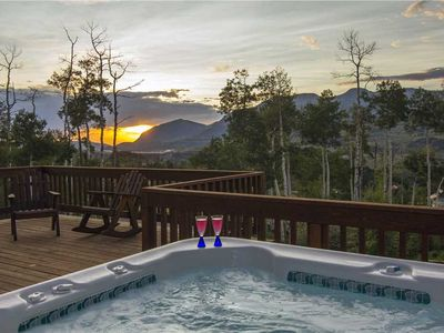 Photo for Mountain Views Abound in Pet-Friendly Home With Private Hot Tub