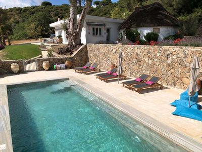 Photo for Countryside paradise with big swimming pool close to great beaches and old town