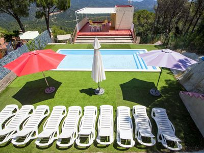 Photo for Catalunya Casas: Colorful Villa Mare up to 12 guests, just 3.5 km to the beach!