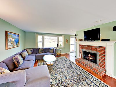 Photo for Spacious 4BR on Bourns Pond w/ Waterfront Deck – Near Woods Hole & Beaches