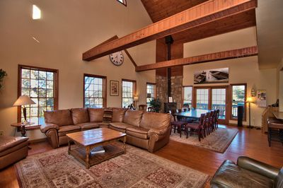 Amazing open concept living while looking at the lake.