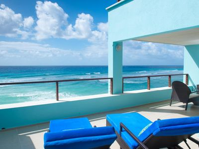 Photo for Walls of Glass & Sea View Hot Tub – Intimate Barbados Jr Penthouse
