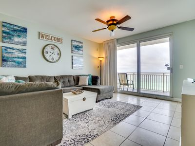 Photo for 2 Gulf front Masters, LOW floor West Corner Unit with Huge Balcony.