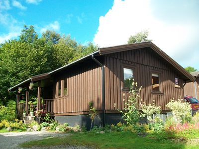 Photo for Cosy & Welcoming  Dales Log Cabin -  swim, trek, pamper, unwind and relax