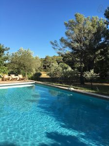 Photo for Luberon garden, swimming pool, air conditioned for 8 persons