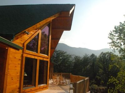 Photo for Breath Taking Rustic Log Mountain Lodge with all the modern conveniences
