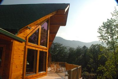Spectacular Mountain Views from the Large Upper Deck