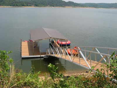 The covered boat dock