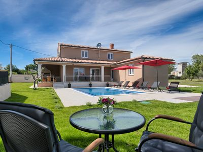 Photo for Newly built villa with 3 bedrooms, outside kitchen, pool and fenced garden
