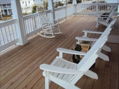 Front Deck - just across the street from the ocean