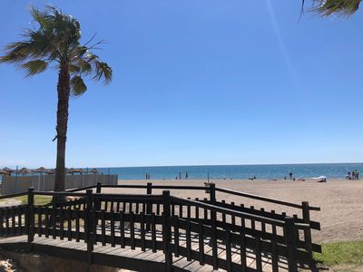 Photo for Bajondillo Beach apartment in Torremolinos with WiFi, air conditioning, shared garden & lift.