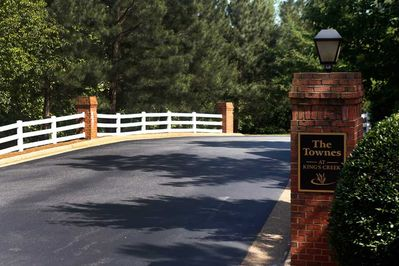 Entrance to The Townes community.