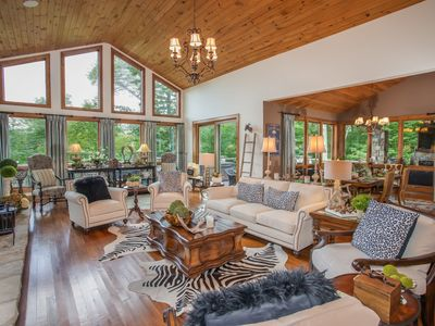 Photo for Luxury Mtn Home in Linville Ridge, 4BR Suites, Views, Hot Tub, Near Slopes of Sugar Mtn