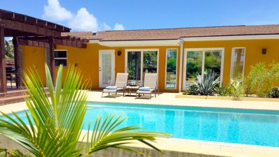 Photo for 🌞BRIGHT HOME - HEATED POOL - 2 BLOCKS to BEACH and 6 RESTAURANTS (Licensed)