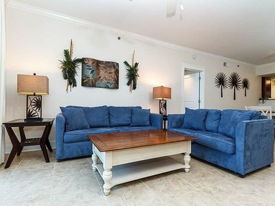 Photo for Ground Floor 2 BR SPACIOUS condo! ** Views of the Gulf of Mexico!!and pools!**