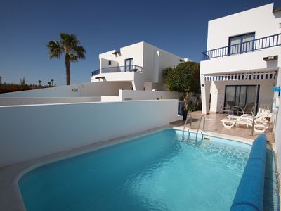 Photo for Luxury quiet southfacing Villa in Marina Rubicon with Free Wifi & heated pool