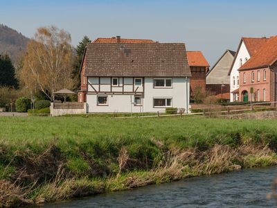 Photo for Detached holiday home in the Weserbergland with terrace and balcony