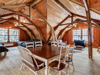 Photo for Log Cottages - 30 Person Banquet Room, sleeping 16 - Party - Reunions - Ski Trips