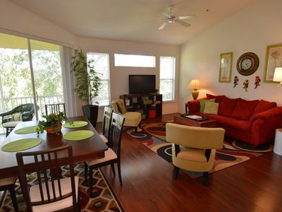 Photo for 4-202 Legacy Dunes Resort, 4 miles to Disney World with heated pool, tennis, gym