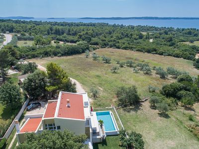 Photo for Villa with swimming pool, spectacular sea views, 500m from the sea, TOP LOCATION, WiFi, barbecue