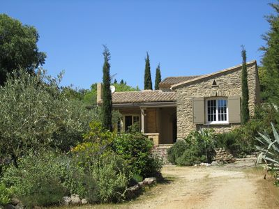 Photo for Villa, large Mediterranean garden with olive trees, swimming pool, near Pont du Gard
