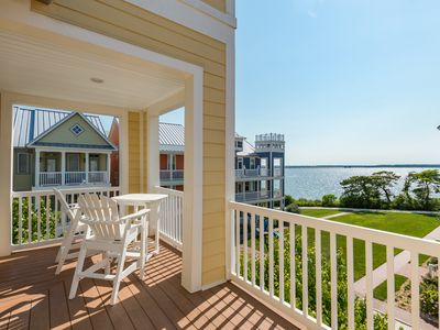 Photo for Enjoy a beautiful view of the bay from this spacious home that can sleep 12.