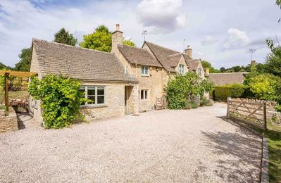 Photo for Willow Tree Cottage is a beautiful property, which backs onto open fields in the heart of Chedworth