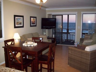 Photo for Tilghman Beach and Racquet Club Unit: 203! Oceanfront 3 Bedroom Condo. Book now for best rates!
