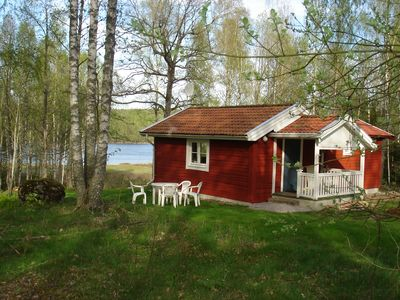 Photo for House, only 110 m from the lake, including boat prices