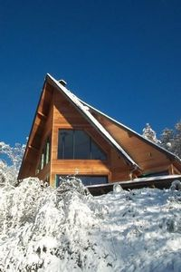 Photo for Rare Wood Contemporary Chalet View Unobstructed 1000m Alt 6 Km Statio