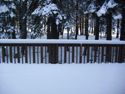 Build a snowman or have a BBQ on the great deck!