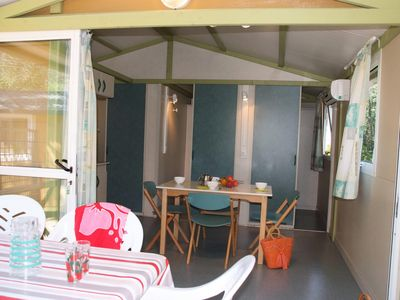 Photo for Camping Lou Cantaire *** - 3-room air-conditioned chalet Moorea 5 people