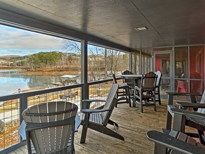 Photo for Waterfront Hiawassee 'Catfish Lakehouse' w/Hot Tub