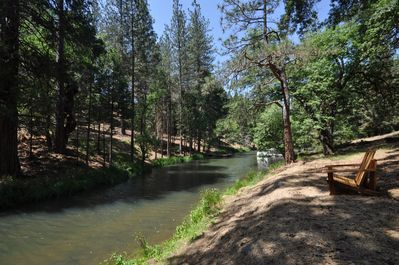 Backyard/Lake view, View 2. Unit 4 Lot 82 Vacation Rental (My Huckleberry Hideaway)