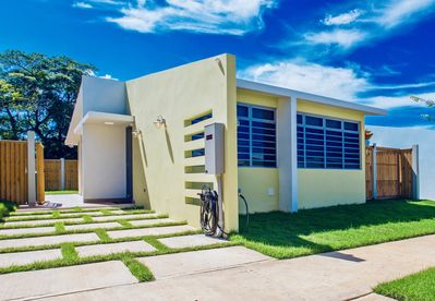 Spacious & airy new modern home with vaulted ceilings and huge windows.