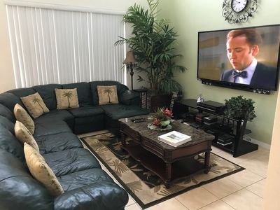 "Family Room with 70"" HDTV with Netflix"