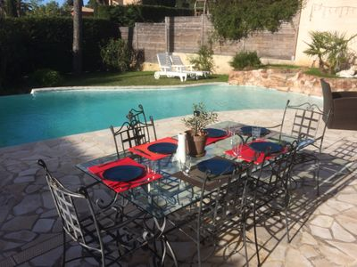 Photo for Quiet House, Private Pool, 3 Bedrooms 2 Bath, Close To Sea, Golf & Estérel